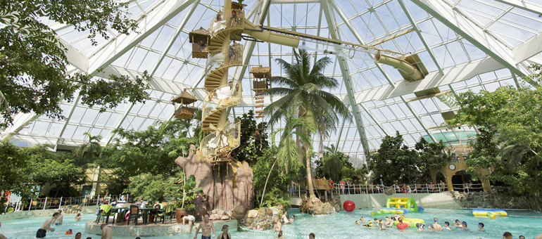 Monkey Splash glijbaan Center Parcs glijbanen