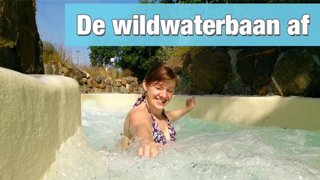 De wildwaterbaan af