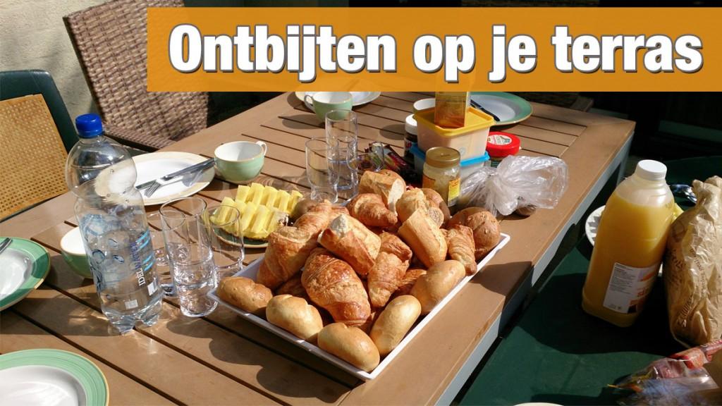 Ontbijten op je terras